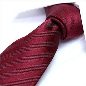 洗えるネクタイ スマートな7cm幅 ナロータイ ネクタイ ウォッシャブル メンズ 紳士用 レッド 赤 ストライプ|smartbiz