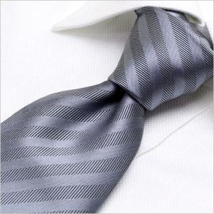 洗えるネクタイ スマートな7cm幅 ネクタイ ウォッシャブル メンズ 紳士用 グレー シルバー ストライプ|smartbiz