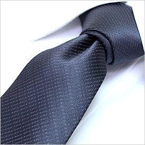 洗えるネクタイ スマートな7cm幅 ネクタイ ウォッシャブル メンズ 紳士用 グレー シルバー|smartbiz