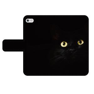 黒猫  iPhone Xperia 手帳型スマホケース/スマホカバー smartgadget