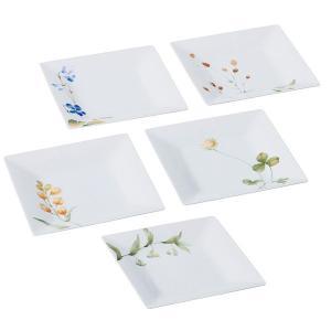 """洋食器で有名なノリタケが手がけた和食器!四季を感じる草花を、綺麗な白磁のお皿に可憐に描いた """"あづま..."""
