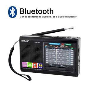 充電式AM/FM/SWラジオ ワイドFM対応小型短波ラジオ/MP3プレヤー 持ち運び便利 Bluet...