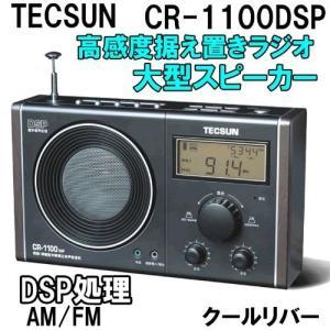 TECSUN CR-1100DSP AM/FMラジオ DSP処理高感度受信 据え置きタイプ