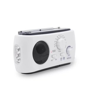 多機能 防災ラジオRD332 LED懐中電灯 高輝度 手回し&USB&ソーラー充電 AM/FMラジオ 携帯電話充電可 リストストラップ付 地震&緊急時&災害対策