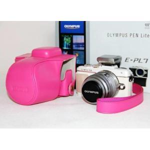 OLYMPUS PEN Lite E-PL8 ケース カメラケース カメラバッグ バッグ カバー オリンパス olympus カメラ 一眼 三脚使用可能ネジ穴装備 ストラップ メーの商品画像|ナビ