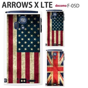F05D 保護フィルム付き) ARROWS X LTE F-05Dカバー F-05D ケース F05D スマホケース アローズ ケース F05D スマホカバー F05D ディズニー F05D white flag