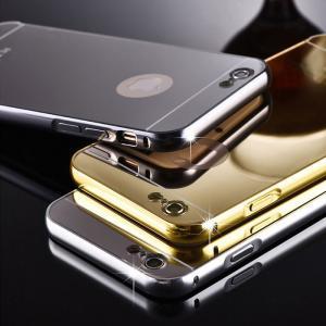iphone6plus 保護フィルム付き)iphone 6 plus ケース カバー スマホケース アイフォン6プラス アイホン6プラス iphone6 iphone6s plus アルミ ミラー バンパー