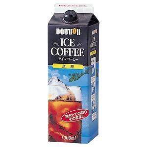 ドトールコーヒー ドトールアイスコーヒー無糖 1000ml×6本|smartoffice
