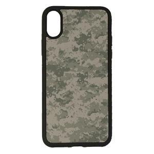 iPhone XS iPhone X 対応 CuVery くっつくケース セルフィー 保護 カバー デジタル 迷彩 柄|smartphone-goods