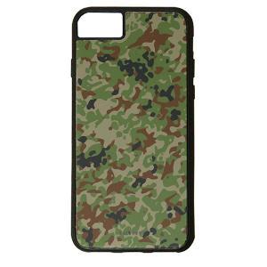 iPhone8 iPhone7 6/6S 対応 CuVery くっつくケース 保護 カバー 迷彩 柄 陸上 自衛隊|smartphone-goods