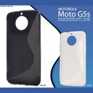 Moto G5s ケース ウェーブデザインラバーソフトケース カバー|smartphone-goods