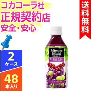 ミニッツメイド フルーツ カシス&グレープ 350ml ペットボトル 【 2ケース × 24...