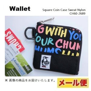 CHUMS チャムス Square Coin Case Sweat Nylon 新品 CH60-26...