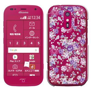 らくらくスマートフォン me F-01L ケース ドコモ らくらくホン カバー スマホカバー スマホケース 液晶保護フィルム付 [Breeze正規品] smarttengoku 05