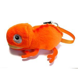 カメレオンクリーナー 橙 オレンジ ストラップ 携帯 スマホ 液晶 メガネ等も拭ける