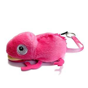 カメレオンクリーナー 桃 ピンク ストラップ 携帯 スマホ 液晶 メガネ等も拭ける
