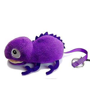 カメレオンクリーナー 紫 パープル ストラップ 携帯 スマホ 液晶 メガネ等も拭ける