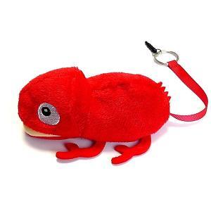 カメレオンクリーナー 赤 レッド ストラップ 携帯 スマホ 液晶 メガネ等も拭ける