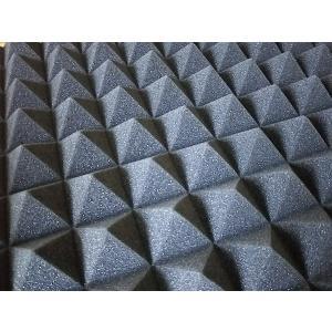 吸音 吸音材 スポンジ 凹凸 ピラミッド型 防音 ウレタン 50cm × 50cm × 5cm 5枚...