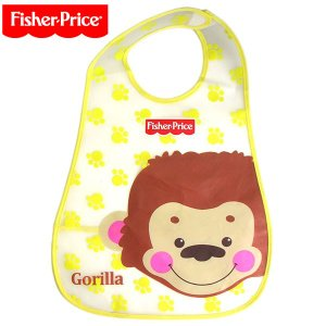 FisherPrice フィッシャープライス お食事 ビニール エプロン ポケット付き PVC smile-baby