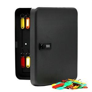 MINONI 36キーキャビネットスチールセキュリティロックボックス、コンビネーションロック、ブラック、ウォール|smile-box