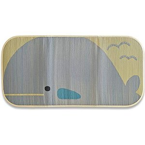 国産こども寝ござサマーマット(中材入りで、床に1枚で使える)70x140cm・くじら|smile-box