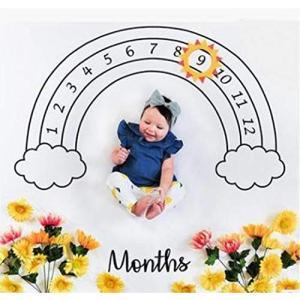 kiejun ベビーフォト 撮影シーツ 寝相アート 記念撮影 赤ちゃん フォトシーツ 誕生日 月齢フォト 成長記録 セレ smile-box