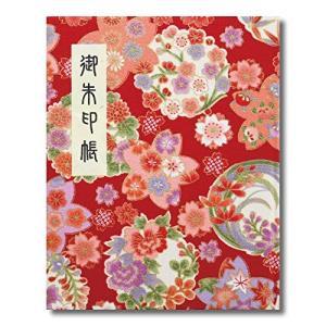 御朱印帳 60ページ ブック式 ビニールカバー付 四季彩爛漫 赤|smile-box