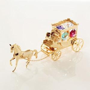 スワロフスキークリスタル プリンセス馬車オブジェ smile-box