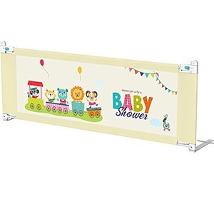 ベッドフェンス ベットガード 無添加素材 垂直的に昇降できたり お子様のベッドからの転倒を防ぐベッドフェ smile-box