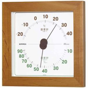 エンペックス気象計 温度湿度計 ウエストン温湿度計 置き掛け兼用 日本製 ブラウン TM-763|smile-box