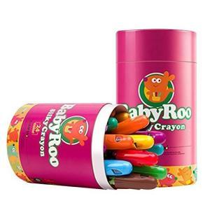 Jar Melo クレヨン 水で落とせる 繰り出し式 水性クレヨン 手が汚れない 極太軸 折れにくい 果物色素使用 smile-box