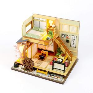 moin moin ドールハウス ミニチュア 手作りキット セット 風情のある 和風 シリーズ 和 日本 初心者向け LEDライト smile-box