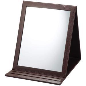 折立鏡デカミラー 角度調整5段階 卓上 A4サイズ ヘアメイク ヘアアレンジ 化粧 折りたたみ 大きい デコルテまで見える smile-box