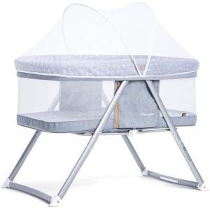Maydolly(メイドリ) 折り畳み添い寝ベビーベッド ポータブル 軽量 通気性良い 収納便利 かや つき 新生児0ヶ月 〜 smile-box