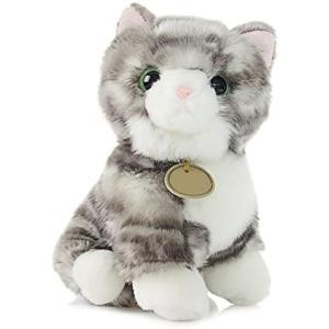 ぬいぐるみ 猫 ねこ ニャンコ リアル 可愛い アニマル キャラクター グレー もふもふ インテリア 店飾り ベッドルーム グッズ プレゼント ギフト smile-box