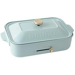 BRUNO ブルーノ コンパクトホットプレート 本体 プレート2種(たこ焼き 平面) ブルーグレー Blue Gray おすすめ (ブルーグレー)|smile-box