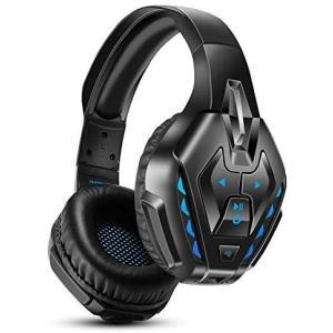 ゲーミングヘッドセット ワイヤレス 無線 Bluetooth PHOINIKAS-B3510 ゲーム用 (ブルー…) smile-box