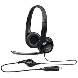 ロジクール USBヘッドセット H390ブラック H390R 1台 ds-2141846 (ブラック...