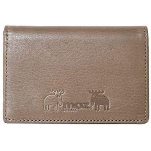 モズ 86021 本革 カードケース 二つ折り 名刺入れ 薄型 スリム エルク ヘラジカ レディース オーク smile-box