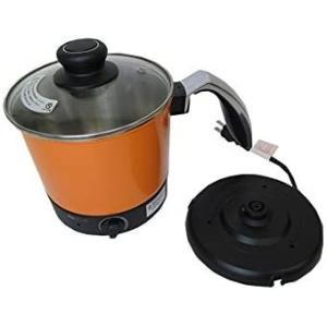 約5分でラーメンが出来上がる!ケトルタイプの一人鍋ケトルタイプ 電気式 らーめん鍋 FD-1600 (オレンジ)|smile-box