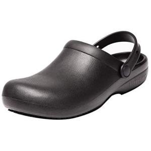 [Jonocas] キッチンシェフシューズ作業靴ナースシューズ防水耐油滑り止男女兼用 (ブラック 24.5 cm 3E) smile-box