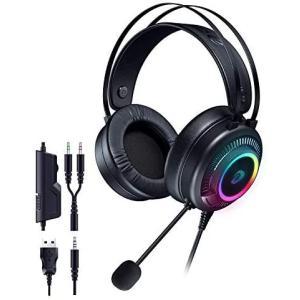 DAREU ステレオゲーミングヘッドセット 3.5mmRGBゲーミング ヘッドセットXbox PC PS4 PS5に適し|smile-box