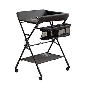 (Newox) オムツ替え オムツ交換台 おむつ取替テーブル 折りたたみ可能 高さ調節可能 キャスター付き オムツ交換 smile-box