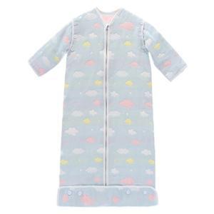 UEK 子供 ベビー スリーパー パジャマ 袖外せる キッズ 寝袋 封筒 6重ガーゼ 雲柄 100%綿 長袖 通気 赤ちゃん ギ smile-box