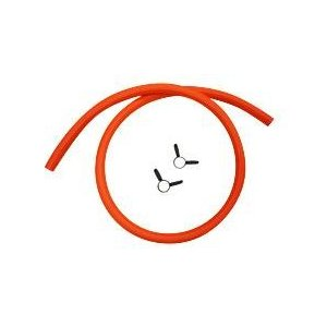 プロパンガス LPG用ゴムホース 内径 φ9.5(色:オレンジ) 5m(ゴム管止め 2ヶ付)|smile-dp