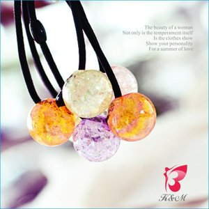 ヘアゴム キラキラ 珠 ヘア飾り 2点セット|smile-hb
