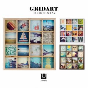 写真立て / グリッドアート フォトディスプレイ GRIDART /umbra アンブラ|smile-hg