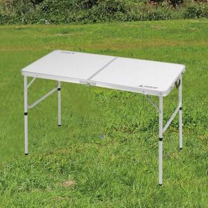 ラフォーレアルミツーウェイテーブルM「アジャスター付」120×60cm UC-510|smile-hg