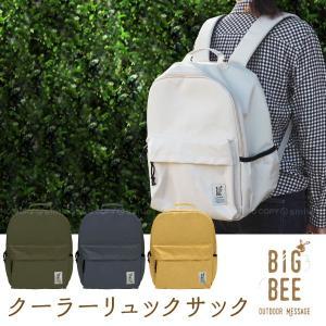 BigBee クーラーリュックサック / 保冷バッグ 大きめ 鞄 リュック 大容量 クーラーバッグ エコバッグ 買い物 アウトドア レジャー|smile-hg